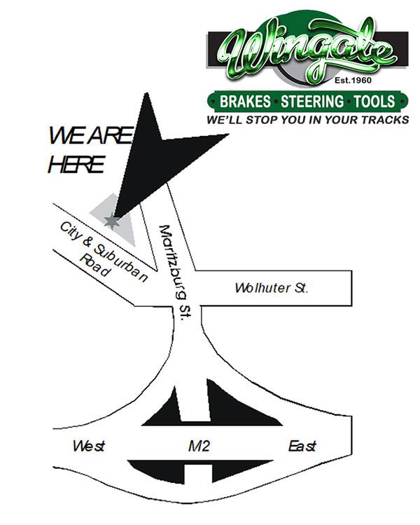 Wingate Motors map